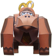 Papercraft de Donkey Kong de Nintendo.