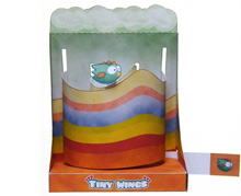 "Papercraft imprimible y armable del Diorama del videojuego ""Tiny Wings"". Manualidades a Raudales."