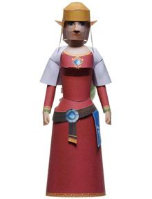 Papercraft de la Princesa Zelda.